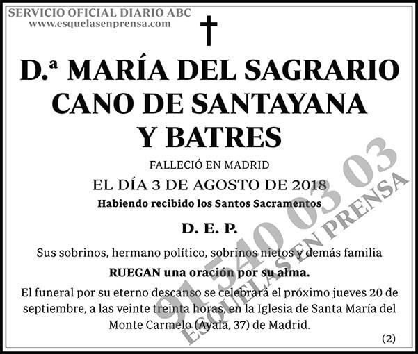 María del Sagrario Cano de Santayana y Batres